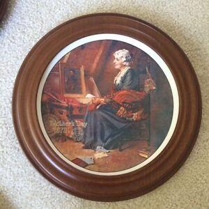 Set of Norman Rockwell framed plates Regina Regina Area image 8