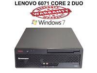 Lenovo ThinkCentre PC Computer - 2.4Ghz 4GB 128 SSD Win 7 Pro