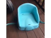 Blue booster seat