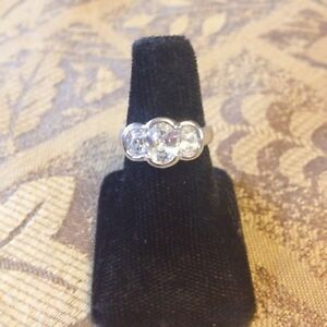 # 7---Pretty little Cubic Zirconia  Ring from an estate.