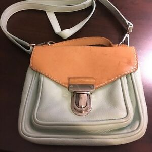 Roots natural leather tan and mint green Crossbody purse  Kitchener / Waterloo Kitchener Area image 2