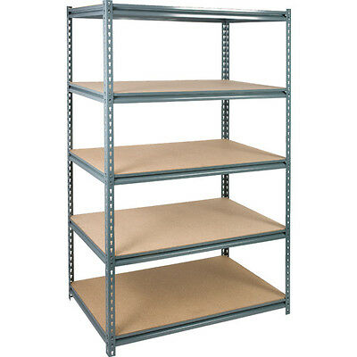 72 X 48 X 24 5-shelf Industrial-grade Z-beam Storage Rack