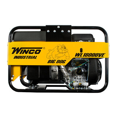 Winco Wl18000ve Industrial Series Portable Generator 18000 Watt Gas 120v Briggs