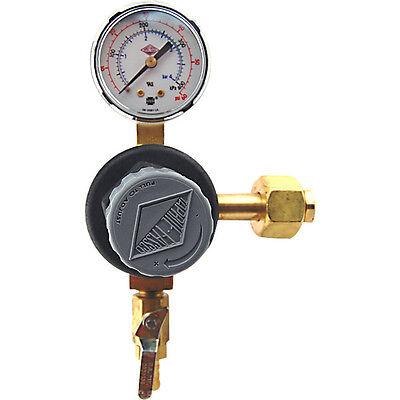 Single Gauge Co2 Pressure Regulator- Polycarbonate Bonnet - Draft Beer Kegerator