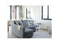 IKEA FRIHETEN dark grey corner sofa-bed with storage. Only a year old and in excellent condition.