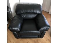 Black 3 seater + 2 chairs