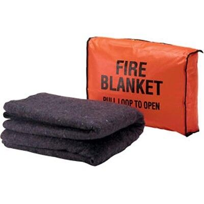 Fire Safety First Aid Wool Blanket 56 X 80 With Bag Set High Quality New
