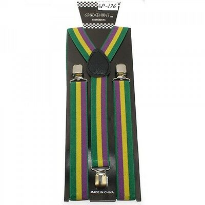 Punk Rock Casual Clip On Y-shape Suspenders Mardi Gras Ye...