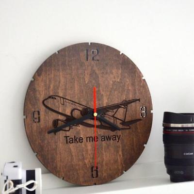 Decorative Wall Clocks Home Silent Wooden Engraved Indoor Gift Rustic Country