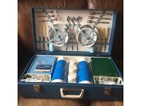 Vintage 6-place Brexton picnic hamper in original condition