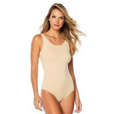 Yummie Frappe Nude Seamless Full-back Tank Body Suit Shapewear Smoothing NEW](Naked Suit)
