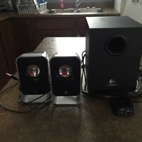 Logitech Computer Speakers and Woofer