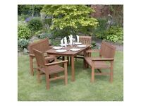 Tropicana 5 Piece Hardwood Garden Furniture Set