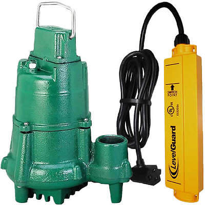 Zoeller N98 - 12 Hp Cast Iron Submersible Sump Pump W Levelguardtrade Switch