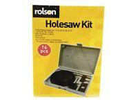 Rolson 16 Piece Hole-saw Kit (New)