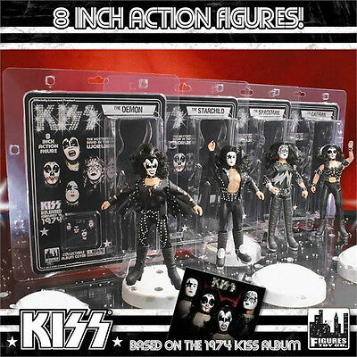 KISS 8 inch figures_Series 2_THE DEMON_THE STARCHILD_THE SPACEMAN_THE CATMAN_MIP