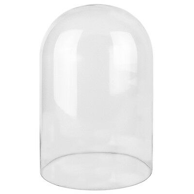 "Clear Glass Cloche Dome H-15"", Open D-10"", Display 1 piece"