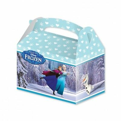 6 DISNEY FROZEN CARDBOARD PARTY BOXES - KIDS LOOT LUNCH GIFTS SNACKS FOOD