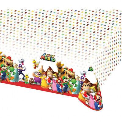 schdecke Kindergeburtstag Themenparty Tischtuch Dekoration (Super Mario Dekoration Geburtstag Party)
