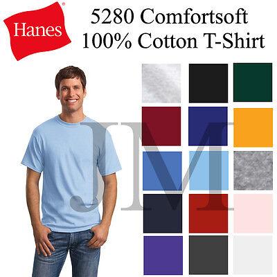 Hanes Comfortsoft 100  Cotton T Shirt Sml 3Xl Tee 5280