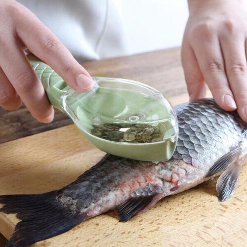 Plastic Fish Scale Remover Scaler Scraper Fishing Scale Grater Remover Easy Clea