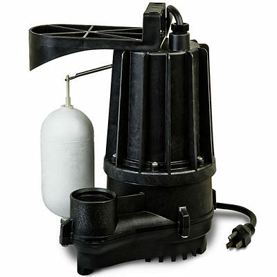 Zoeller M72 - Aqua-mate 13 Hp Thermoplastic Sump Pump W Vertical Float