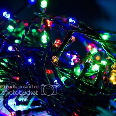 LED Lichterkette bunt blinkend 30 Lampen Weihnachtsbeleuchtung Batteriebetrieben ()