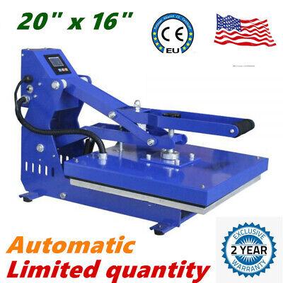 16 X 20 T-shirt Heat Press Machine Horizontal Clamshell Sublimation Printing