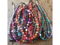 20 handmade necklaces gemstones beads fresh water pearls etc silver clasps!