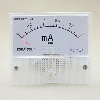 Dc 0-1ma Analog Amp Meter Ammeter Current Panel New