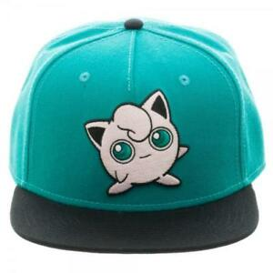 Bioworld Pokemon Jigglypuff Embroidered Snapback Cap Hat Turquoise ... 771dc365afc4