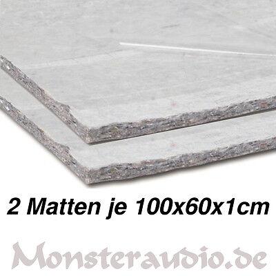 2 x CHP Dämmvlies 100x60cm 1,2m² selbstklebend 10mm dick KFZ Schalldämmung PKW  ()