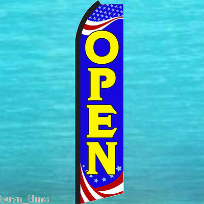 Open Flutter Feather Flag Swooper Tall Vertical Advertising Sign Banner 25-1462