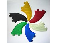 Surfboard Fins FCS fit Quad Set(4) Surfing Fin G5 & GX Quads 6 Colours Honeycomb