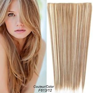 """CLIP IN ON HAIR EXTENSION CLIP,24"""", 60 CM,STRAIGH,Like REAL HAIR Yellowknife Northwest Territories image 7"""