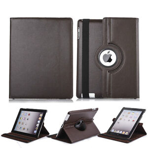 BROWN 360 ROTATING PU LEATHER CASE COVER WITH STAND FOR IPAD AIR Regina Regina Area image 3
