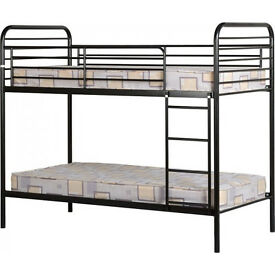 Black Metal Bunk Bed RRP £169 - Grab a bargain - pick up Canary Wharf area