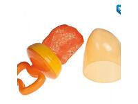 Orange Fresh food feeding Baby Dummy Pacifier Nibbler Feeder Nibbler, Weaning Teething
