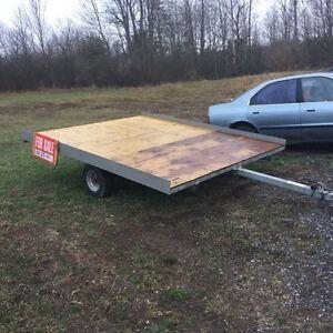 8x10 galvanized snowmobile trailer