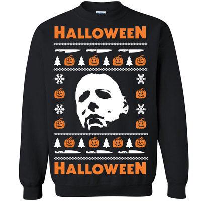 650 Halloween Crew Sweatshirt Ugly christmas sweater slasher costume horror