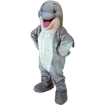 Happy Dolphin Professional Quality Mascot Costume Adult Size