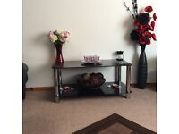 Hygena Black Glass Coffee Table