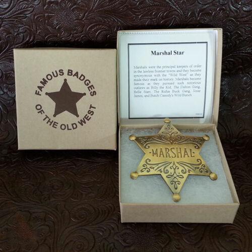US Marshall Dress Badge--Brass Replica