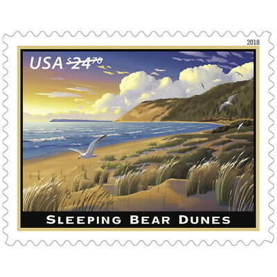 USPS New Sleeping Bear Dunes Pane of 4
