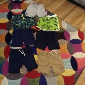 Boys mixed shorts sizes 2-3 3-4 4-5 years