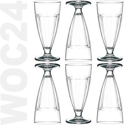 6 Eisbecher Eiskaffeebecher Eisgläser Milchshake Gläser Eis Cafe Glas Coppa (Glas Milch Gläser)