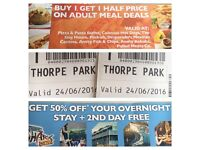 Thorpe park tickets 2 adults