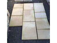 3.78m2 buff paving in mixed sizes