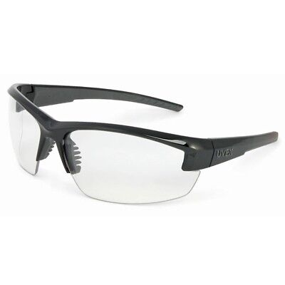 Uvex Mercury Safety Glasses with Clear Lens, Black Frame