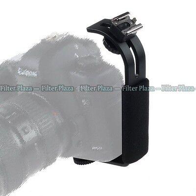 L-bracket Adjustable Hot Shoe Mount For Video Light Flash DSLR Camera Camcorder